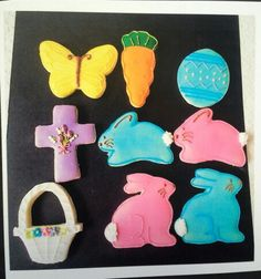 Easter themed decorated cookies Made by Pastry Chef Yolanda- www.Facebook. com/PastryChefyolanda