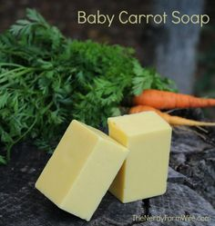 Baby Carrot Cold Process Soap Recipe make with pureed carrot!