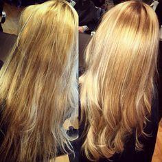 Blonde, blonde, blonde! Color & stye by Priscilla!