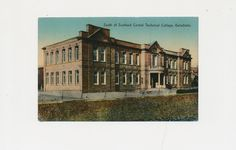 100 year old color postcard Scotland Central Technical College, Galashiels, 1917 by mudintheUSA on Etsy
