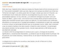 Comentario para El hechizo del ángel en Amazon. Gracias ♥