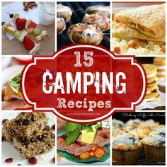 Camping recipes galore for your next camp-out! Plus a HUGE giveaway to buy some camping supplies! #camping #campingrecipes #smores