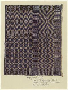 """Lee's Surrender"", No. 2. Woven by Ernest Chapman, Clark's Falls, Conn. Ca. 1912."