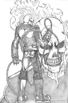ghost rider pencil sketch by thecarloszayas on deviantart drawing Pencil Sketch Images, Pencil Sketch Drawing, Comic Drawing, Pencil Art Drawings, Drawing Ideas, Ghost Rider Drawing, Ghost Rider Tattoo, Hellboy Wallpaper, Ghost Rider Pictures