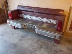 Ford Tailgate Bench by ArnoldRestoration on Etsy https://www.etsy.com/listing/216381907/ford-tailgate-bench