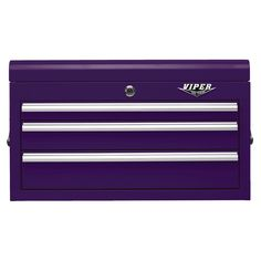 The Original Pink Box – Purple 26-Inch 3 Drawer Chest