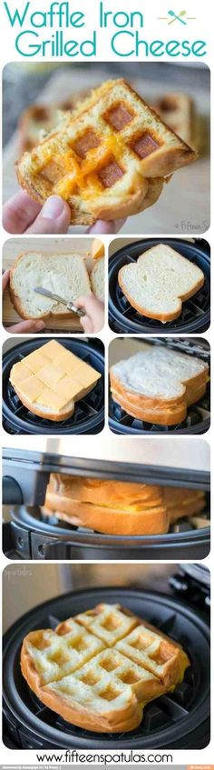 Waffles Iron Grilled Cheese!! My daughter and I love this!