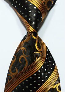 Scott Alone : New Classic Gold Black Striped 100% New Jacquard Woven Silk Men's Tie Necktie Scott Alone http://www.amazon.com/dp/B00OIS3GVK/ref=cm_sw_r_pi_dp_41ALwb12SJ85V