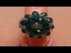 Cluster Ring _ Day 5 of 5 Day Marathon of Ring 💍 Tutorial Anillo, Ring Tutorial, Beaded Rings, Beaded Jewelry, Beaded Bracelets, Diy Jewelry Videos, Jewelry Crafts, Beading Tutorials, Beading Patterns