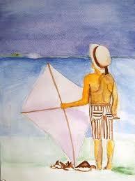 ''Kite and boy''-Marie Pietrowiak