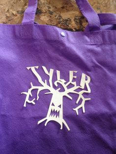 Personalized Haunted Tree Iron On Applique by NewtonHandiworks on Etsy https://www.etsy.com/listing/248256408/personalized-haunted-tree-iron-on