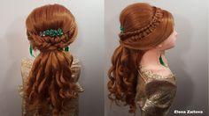 прическа для выпускного вечера длинные волосы,