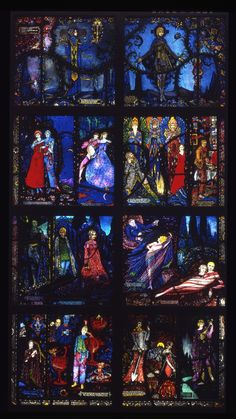 Window for the International Labor Building, League of Nations, Geneva, commissioned 1926 (never installed) Harry Clarke