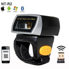 116.90$  Buy now - http://alie3m.worldwells.pw/go.php?t=32710429839 - New mini wireless 2D QR Bar code Scanner Portable Bluetooth Wearable Ring 1D/2D Scanner Barcode Reader for Window/Android/IOS 116.90$