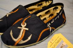 Custom hand painted TOMS shoes FREE SHIPPING by AmandaJoyBowers, $150.00
