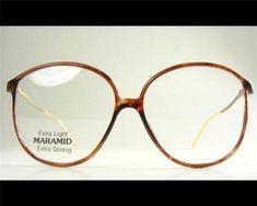 0590a6cd935 Details about Demi-Amber Tortoise Gold Drop-Temple Women s Vintage NOS  Eyeglass Frame 1980s 54