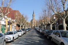 Passeig Jaume Gordi i Església Major. Santa Coloma de Gramenet