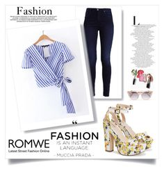 """""""Romwe"""" by ajsic ❤ liked on Polyvore featuring Jimmy Choo"""