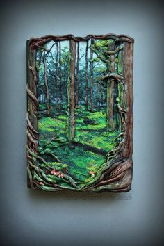 Misticla forest book polymer clay cover от ArtisticVariations84