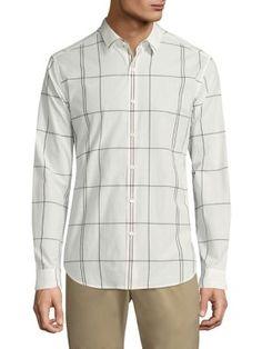 THEORY Zack Grid Shirt. #theory #cloth #shirt
