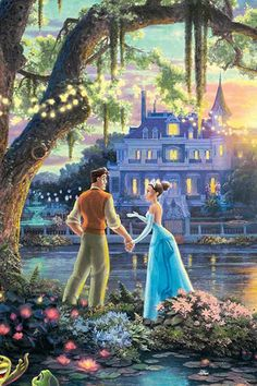 """Tiana and Naveen"" Disney Princess Drawings, Disney Princess Art, Disney Fan Art, Disney Drawings, Tangled Princess, Frog Princess, Princess Merida, Princess Bubblegum, Thomas Kinkade Disney"