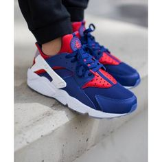 77ae09c8 Nike Air Huarache London Blue White Red Mens Shoes & Trainers Online Outlet  Haraches Shoes,
