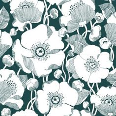 Teal poppies (Amapola by Tres Tintas), perfect for a garden room. (Yes, I have a garden room. Lucky me!)