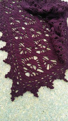 crochet Ravelry: Skull & Hearts Shawl pattern by Meghan Davis