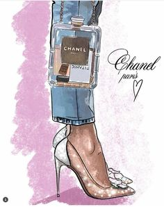 Ideas For Fashion Art Illustration Chanel Drawings - wear me. - Ideas For Fashion Art Illustration Chanel Drawings - New Fashion, Trendy Fashion, Girl Fashion, Chanel Fashion, Fashion Ideas, Paper Fashion, Future Fashion, Fashion Illustration Chanel, Fashion Illustrations