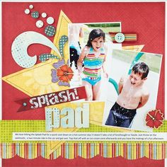 scrapbooking layouts | Scrapbook How To: Machine Stitch on Scrapbook Layouts