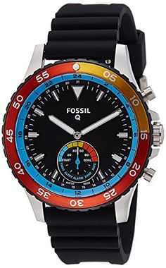 Fossil Q Crewmaster Gen 2 Mens Black Leather Hybrid Smartwatch FTW1141 * You can get additional details at the image link. Note: It's an affiliate link to Amazon #mensleathersmartwatch