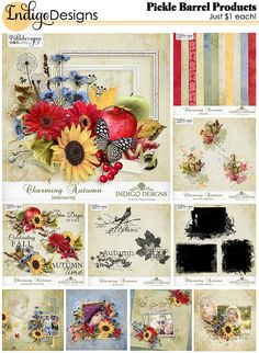 The September Pickle Barrel is Open at PBP! This month I have a new Charming Autumn collection.This cheerful collection celebrates the golden days of fall with blue skies, yellow sunflowers and crisp red apples.    Each pack JUST $1, until September 22. http://www.pickleberrypop.com/shop/manufacturers.php?manufacturerid=83  You can purchase the whole collection 6 pack (a $18.64 value) for JUST $6 and get the Swirls FREE…