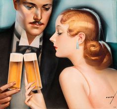To a most refined and elegant of art deco New Year's! #vintage #1930s #New_Years
