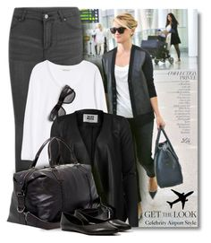 """Get the Look: Celebrity Airport Style"" by fashion-architect-style ❤ liked on Polyvore featuring Cheap Monday, Rebecca Taylor, Vero Moda, John Varvatos, Steve Madden and By Terry"