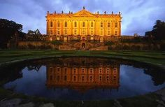 Chatsworth House, in the peak district. Austen went to a ball here, this was her real inspiration for Pemberly.