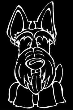 Scottish Terrier Decal Dog – Angry Squirrel Studio
