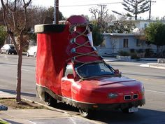 When you are crazy about shoe and car at the same time! #CarHumour #ShoeCar