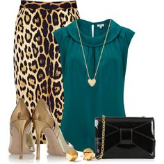 """""""Teal&Leopard"""" Things to wear"""