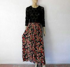 Grunge floral maxi skirt