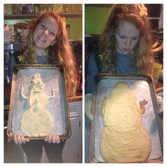 That awkward moment when your snowman cookie turns into Jabba The Hutt...