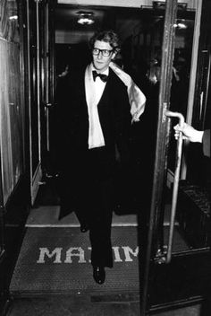 1973 - YSL exits Maxim's by Michel Ginies