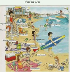 English vocabulary Beach