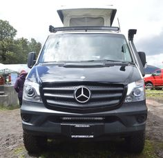 Sportsmobile has added a snorkel to this show Sprinter 4x4