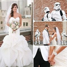 Star Wars Wedding: Theme Wedding, Star Wars, Storm Troopers at Wedding: Glamour.com