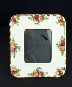 Royal Albert Old Country Roses Porcelain Photo Frame VGC