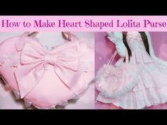 DIY-How to make kawaii heart shape Lolita purse (Easy) - YouTube some steps i would change to make the purse sturdier. As in no hot glue.