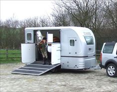 Euro Horse Trailers with Living. Cool space saving ideas.  I like this one too.  #pinadream