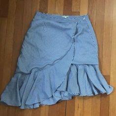 Gianni Bini Skirts | Gianni Bono Stripe Skirt | Poshmark High Low Skirt, Gianni Bini, Stripe Skirt, Blossoms, Navy And White, Stripes, Skirts, Outfits, Things To Sell