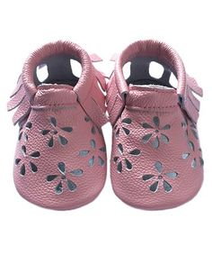This Pink Flower Cutout Leather Booties is perfect! #zulilyfinds