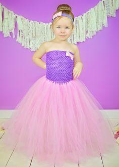 Purple and Pink Glitter Tutu Dress